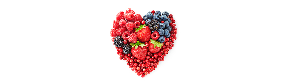 Fruits en coeur