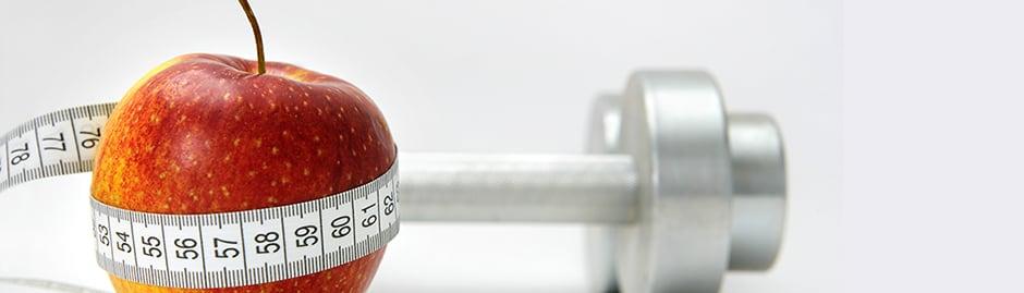 Pomme altères et mètre